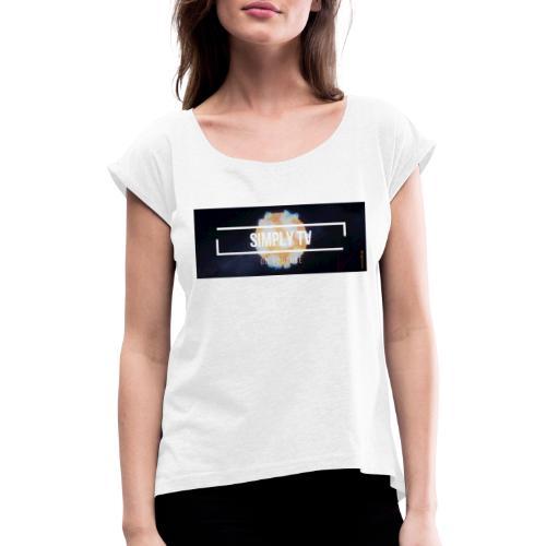 DESIGN SIMPLY-TV - T-shirt à manches retroussées Femme