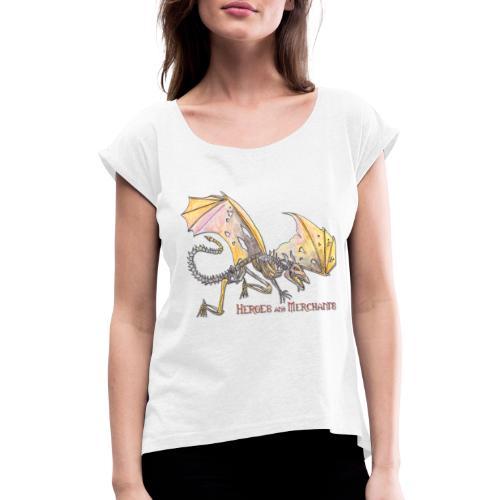 Bonedragon - Frauen T-Shirt mit gerollten Ärmeln