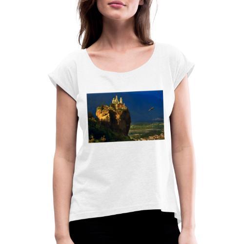 try castle01 - Maglietta da donna con risvolti