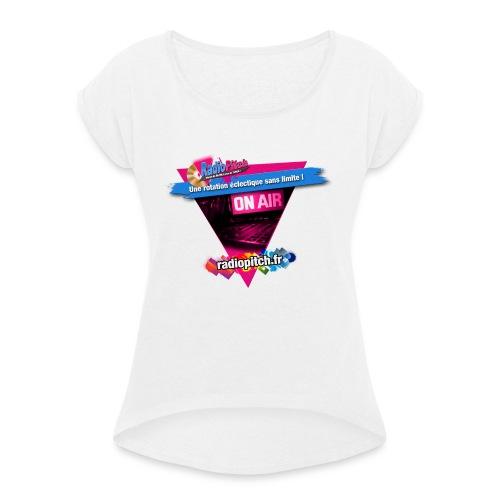 logo radipitch 2021 triangle - T-shirt à manches retroussées Femme