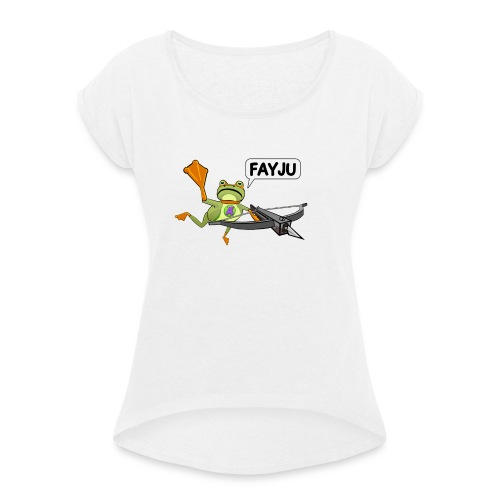 Amazing Frog Crossbow - Women's T-Shirt with rolled up sleeves