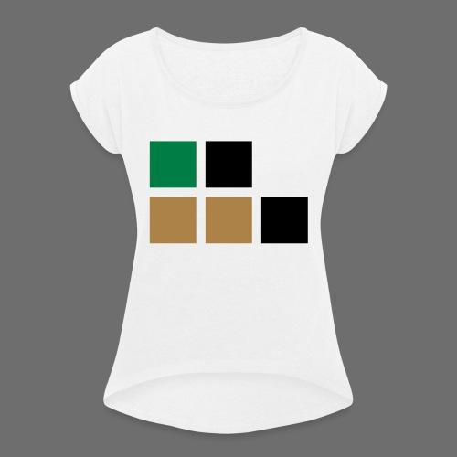 invalid_tooManyColors-svg - Frauen T-Shirt mit gerollten Ärmeln