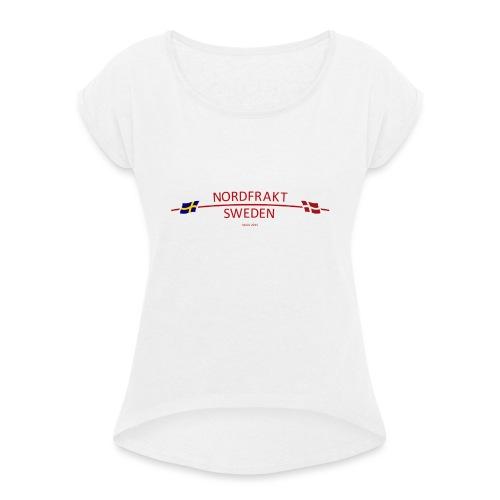 NordFrakt SWEDEN - T-shirt med upprullade ärmar dam