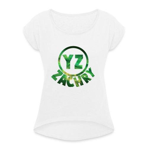 YZ-pet - Vrouwen T-shirt met opgerolde mouwen