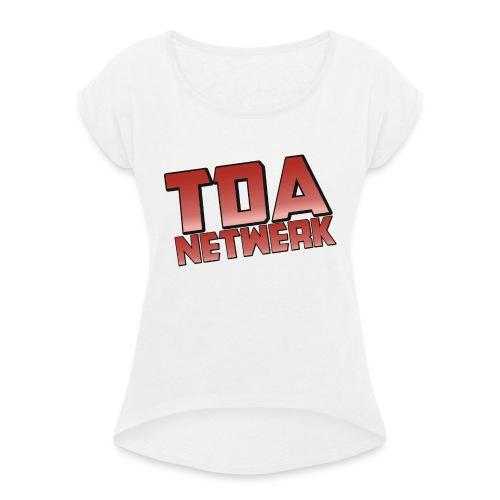 SnapBack - Vrouwen T-shirt met opgerolde mouwen