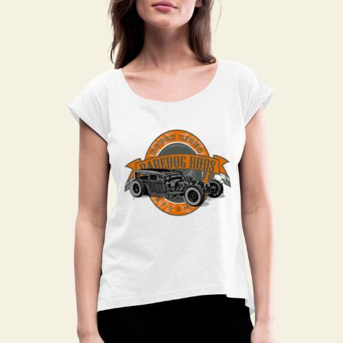 Raredog Rods Logo - Dame T-shirt med rulleærmer