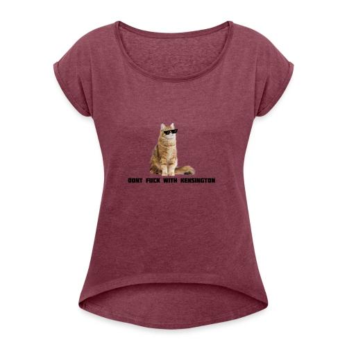 DFWK - Vrouwen T-shirt met opgerolde mouwen