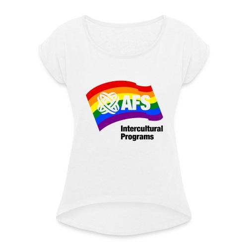 AFS Pride Edition - Frauen T-Shirt mit gerollten Ärmeln