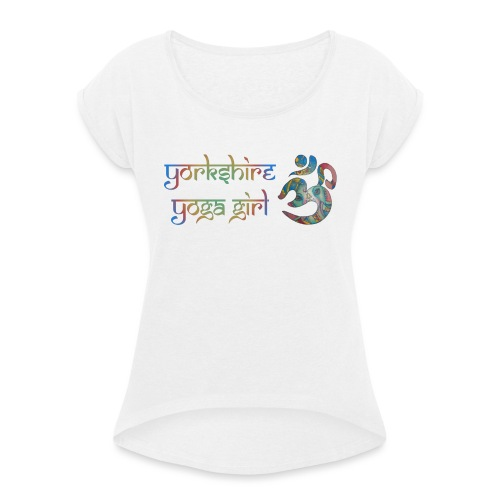 YYg Logo with Gradient - Women's T-Shirt with rolled up sleeves