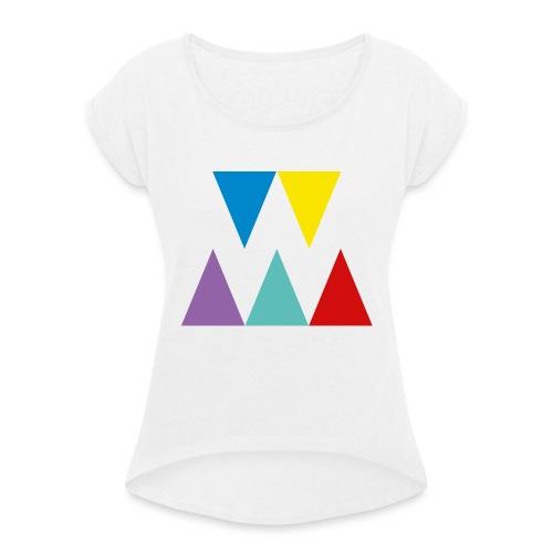 Logo We are les filles - T-shirt à manches retroussées Femme