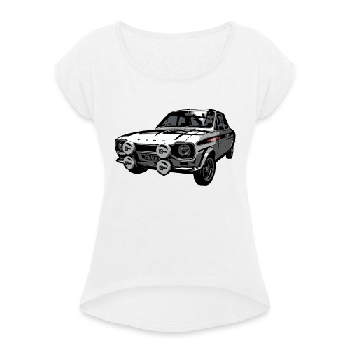 Mk1 Escort - Women's T-Shirt with rolled up sleeves