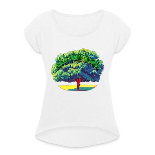 Ambiente - Camiseta con manga enrollada mujer