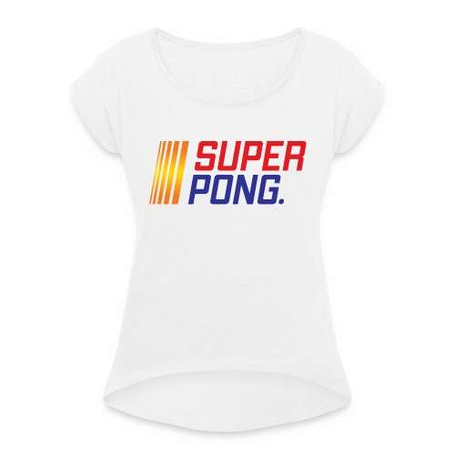 LOGO MAIN colour - Women's T-Shirt with rolled up sleeves