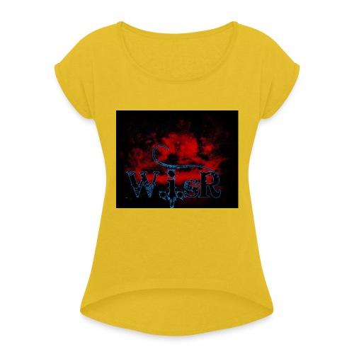 WISR Huppari - Naisten T-paita, jossa rullatut hihat