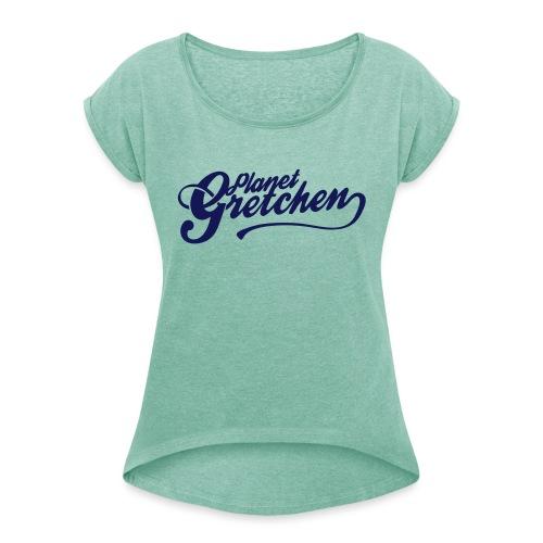 Planet Gretchen svart - T-shirt med upprullade ärmar dam
