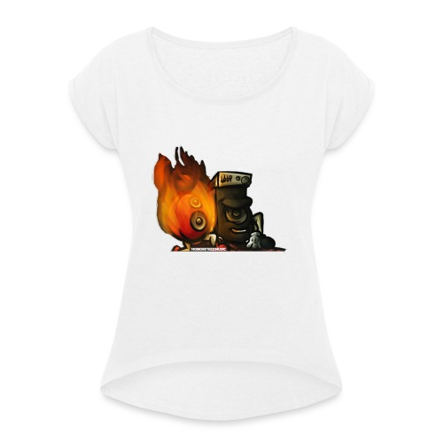 Speaker Buddies - Women's T-Shirt with rolled up sleeves