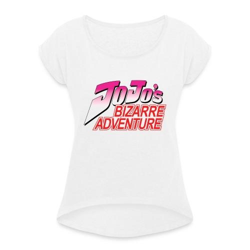 Jojo's Bizarre Adventure Logo T Shirt - Camiseta con manga enrollada mujer