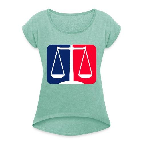 Logo2 - Frauen T-Shirt mit gerollten Ärmeln