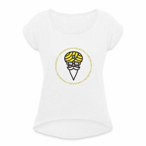 Fahrlehrer Guru - Frauen T-Shirt mit gerollten Ärmeln