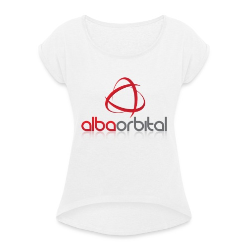 Alba Orbital's Offical Logo - Women's T-Shirt with rolled up sleeves