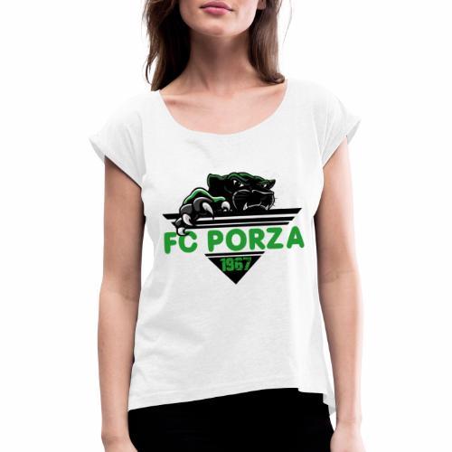FC Porza 1 - Frauen T-Shirt mit gerollten Ärmeln