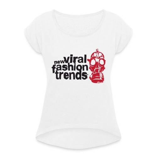 Viral Fashion Trends - Women's T-Shirt with rolled up sleeves