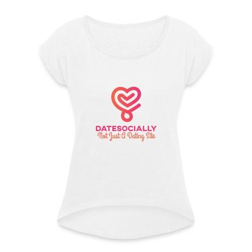 FullColor TransparentBg 1280x1024 72dpi - Dame T-shirt med rulleærmer