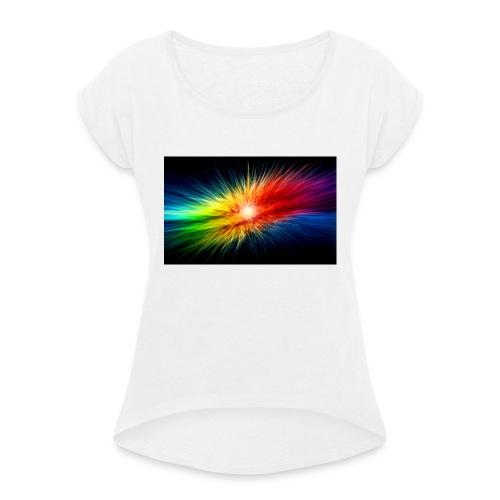 mooi - Vrouwen T-shirt met opgerolde mouwen