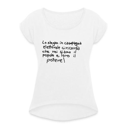 lo_sloganVERO - Maglietta da donna con risvolti