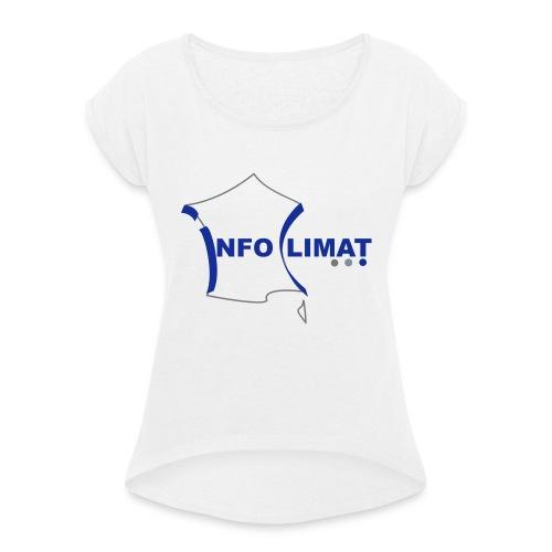 logo simplifié - T-shirt à manches retroussées Femme
