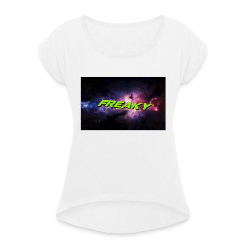 Freaky Cover_iphone - Dame T-shirt med rulleærmer