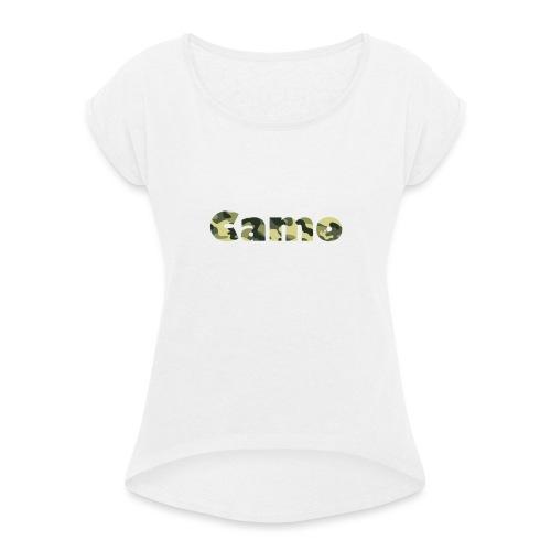 Camo Designs - Vrouwen T-shirt met opgerolde mouwen