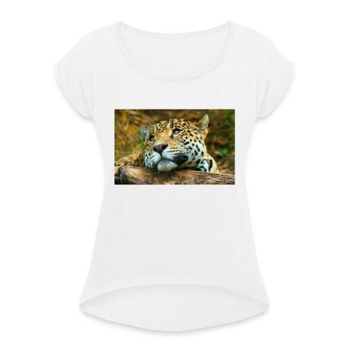 tigre - Maglietta da donna con risvolti