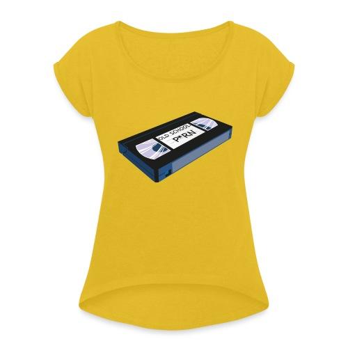 OLD SCHOOL P * RN vhs - T-shirt à manches retroussées Femme