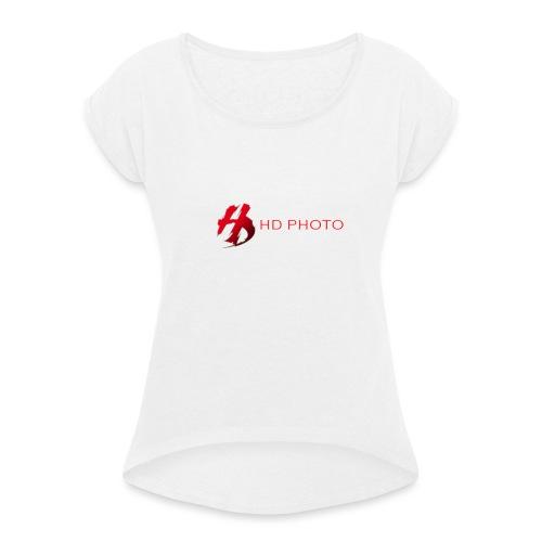 logo officiel hd photo namur - T-shirt à manches retroussées Femme
