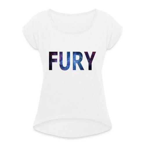 FURY - Dame T-shirt med rulleærmer