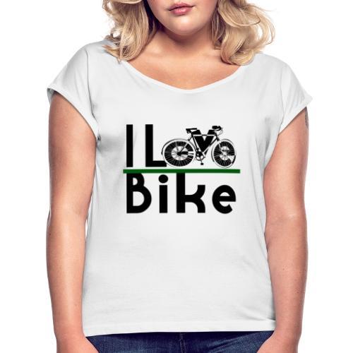 I love bike - Maglietta da donna con risvolti