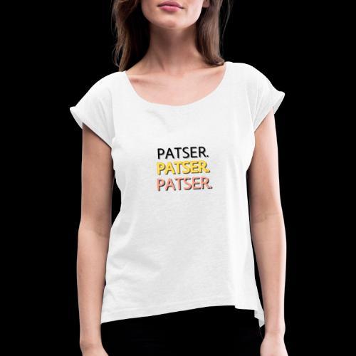 PATSER GOUD - Vrouwen T-shirt met opgerolde mouwen