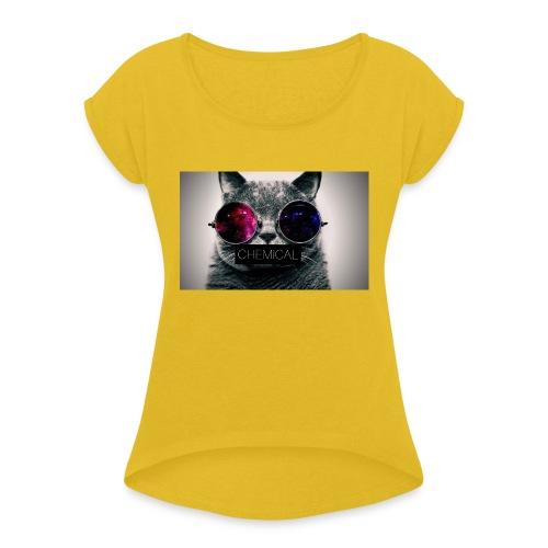 Cat - Maglietta da donna con risvolti