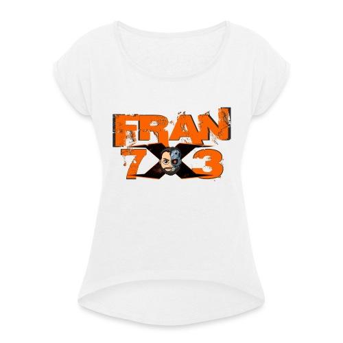 FranX73 Retro - Camiseta con manga enrollada mujer