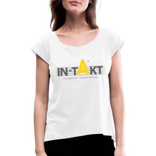 IN-TAKT Tanzunterricht Logo Lovers - Frauen T-Shirt mit gerollten Ärmeln