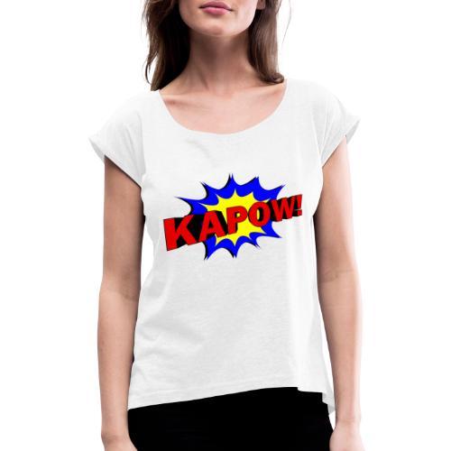 dada974 - T-shirt à manches retroussées Femme