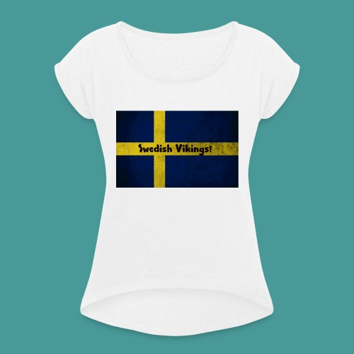 Swedish Vikings - T-shirt med upprullade ärmar dam