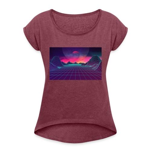 uiCXvbi - Frauen T-Shirt mit gerollten Ärmeln
