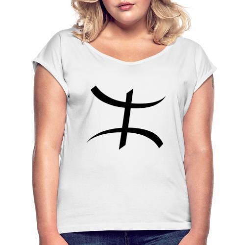 Motif Kabyle - T-shirt à manches retroussées Femme
