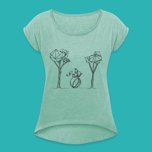 Rotolare_o_capitombolare-01-png - Maglietta da donna con risvolti