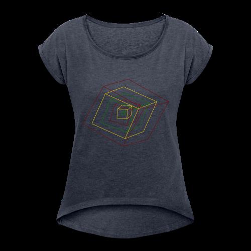 Rasta Cubes - T-shirt à manches retroussées Femme