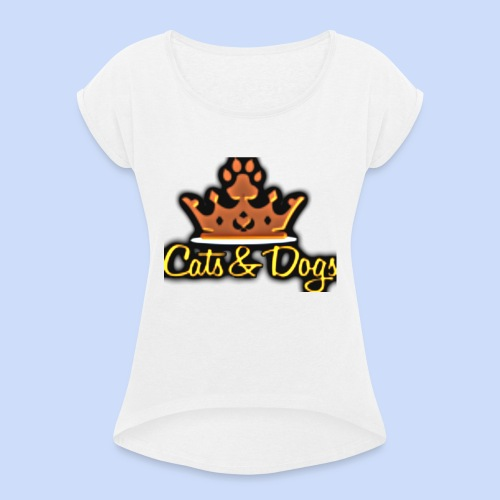 Official Cats&Dogs - Women's T-Shirt with rolled up sleeves