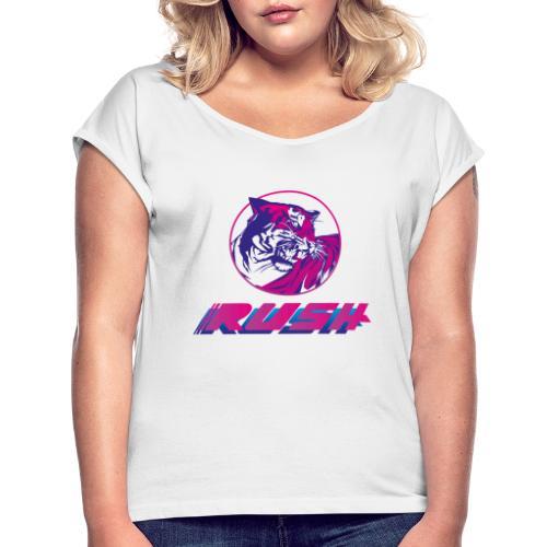 Tiger RUSH II - Frauen T-Shirt mit gerollten Ärmeln