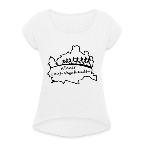 Laufvagabunden T Shirt - Frauen T-Shirt mit gerollten Ärmeln